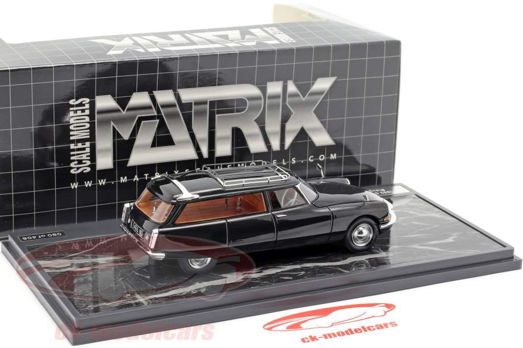 Citroen ID19 Cortege Slough Factory Hearse Bouwjaar 1962 zwart 1:43 Matrix