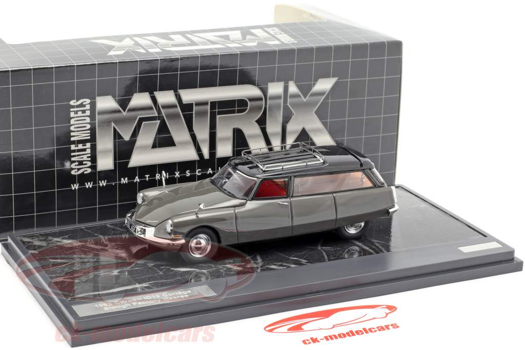 Citroen ID19 Cortege Slough Factory Hearse Opførselsår 1962 grå 1:43 Matrix