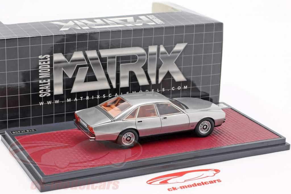 Jaguar XJ 12-PF Pininfarina año de construcción 1973 plata metálico 1:43 Matrix