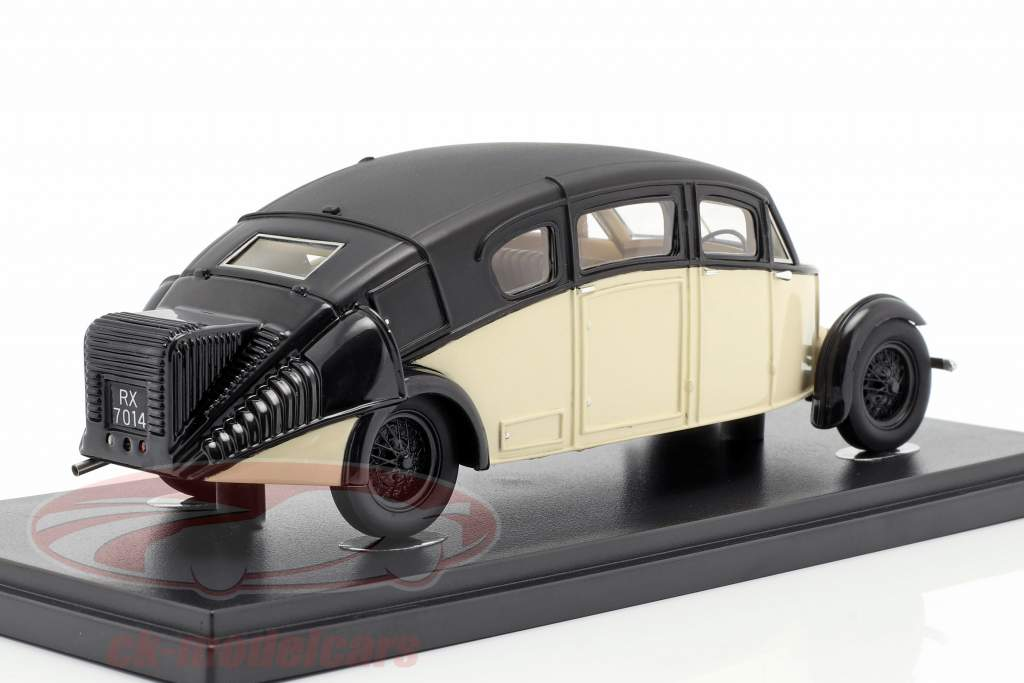 Burney R-100 Streamline Opførselsår 1930 elfenben / sort 1:43 AutoCult