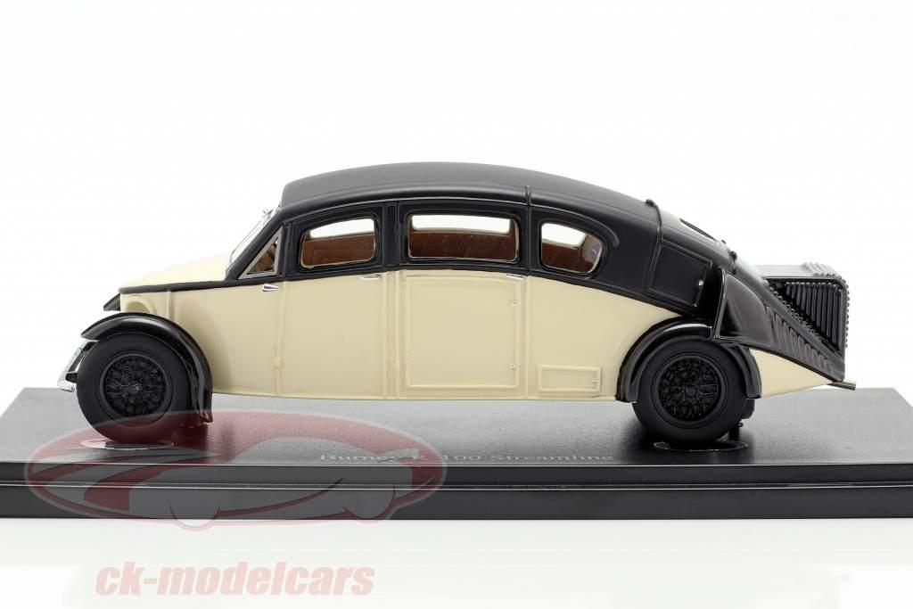 Burney R-100 Streamline año de construcción 1930 marfil / negro 1:43 AutoCult