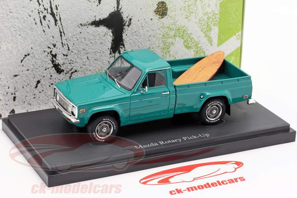 Mazda Rotary Pick-Up año de construcción 1974 oscuro turquesa 1:43 AutoCult