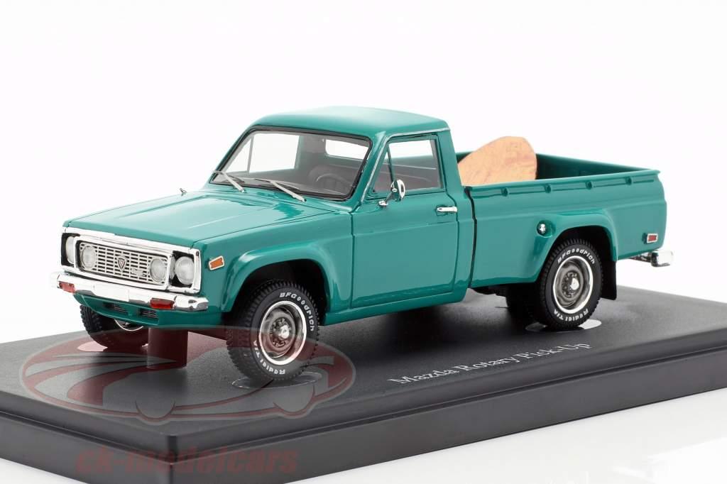 Mazda Rotary Pick-Up Opførselsår 1974 mørk turkis 1:43 AutoCult