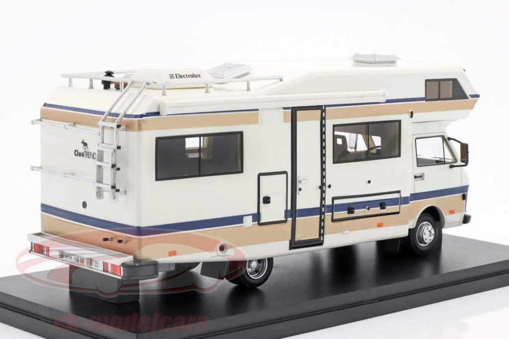 Volkswagen VW LT 50 Niesmann y Bischoff Clou Trend 650 F año de construcción 1988 blanco 1:43 AutoCult