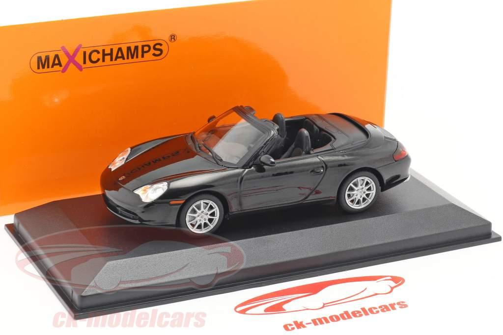 Porsche 911 (996) Cabriolet Opførselsår 2001 sort metallisk 1:43 Minichamps
