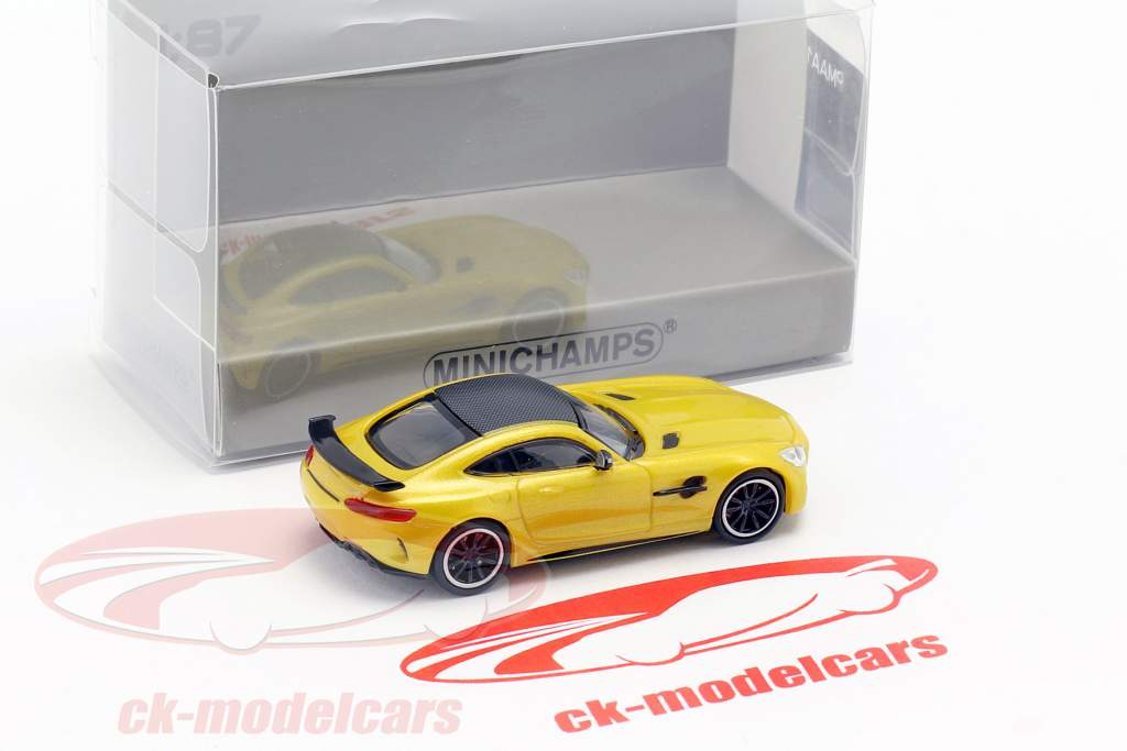 Mercedes-Benz AMG GT-R año de construcción 2017 amarillo metálico 1:87 Minichamps