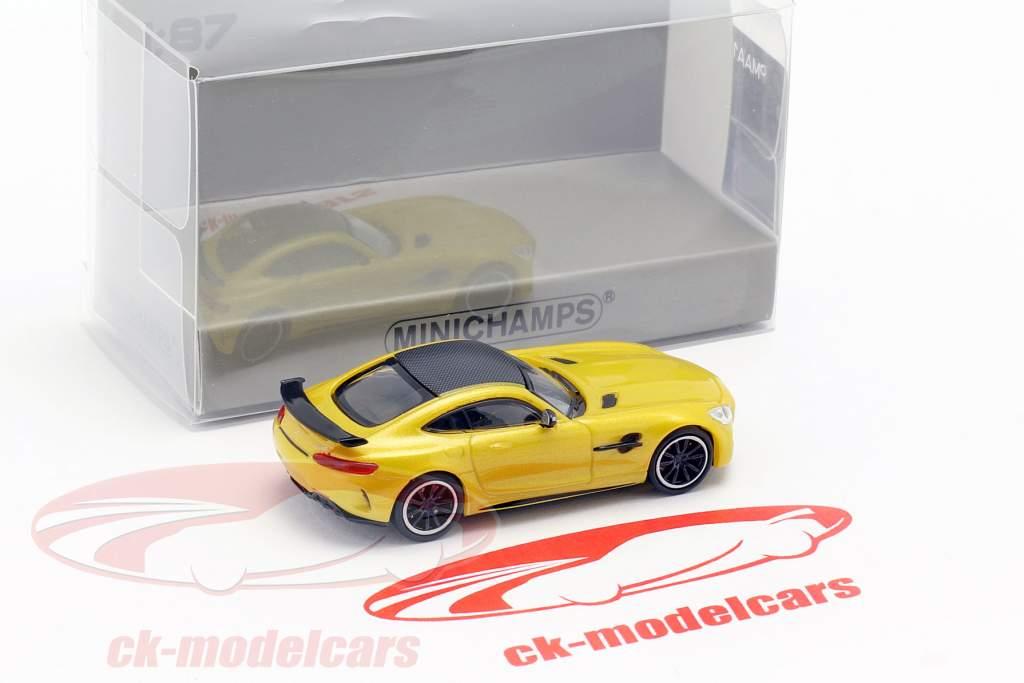 Mercedes-Benz AMG GT-R year 2017 yellow metallic 1:87 Minichamps
