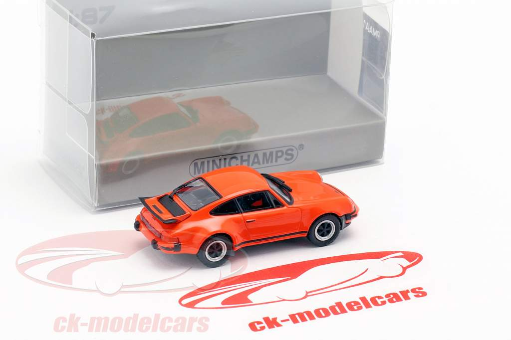 Porsche 911 Turbo (930) Bouwjaar 1977 oranje 1:87 Minichamps