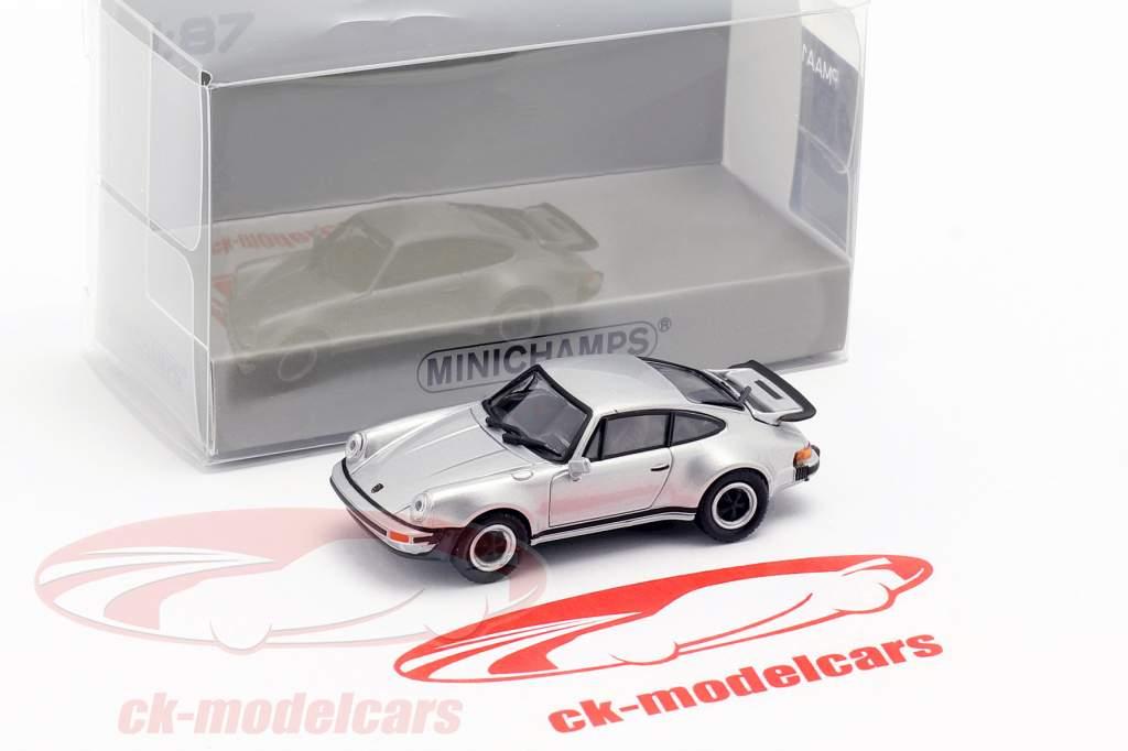 Porsche 911 Turbo (930) anno di costruzione 1977 argento 1:87 Minichamps