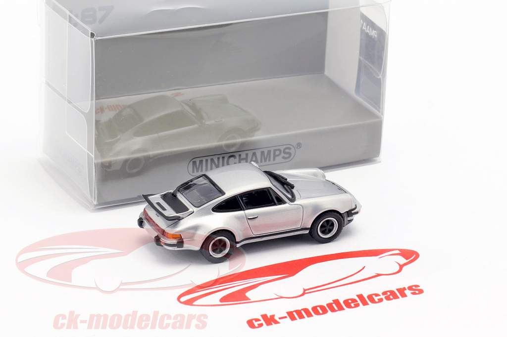 Porsche 911 Turbo (930) year 1977 silver 1:87 Minichamps