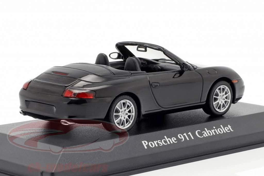 Porsche 911 (996) Cabriolet anno di costruzione 2001 nero metallico 1:43 Minichamps