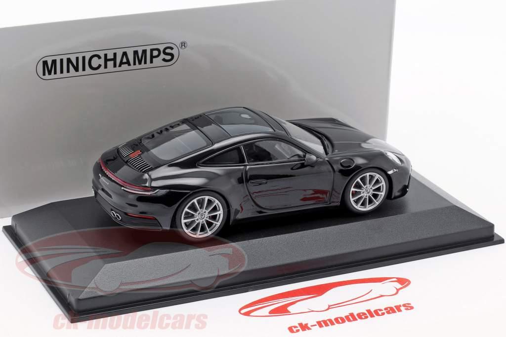Porsche 911 (992) Carrera 4S año de construcción 2019 negro metálico 1:43 Minichamps