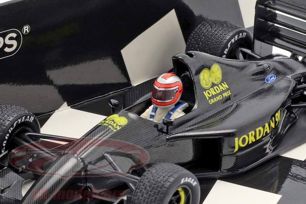 J. Watson Jordan Ford 911 F1 testen Silverstone 28e november 1990 1:43 Minichamps