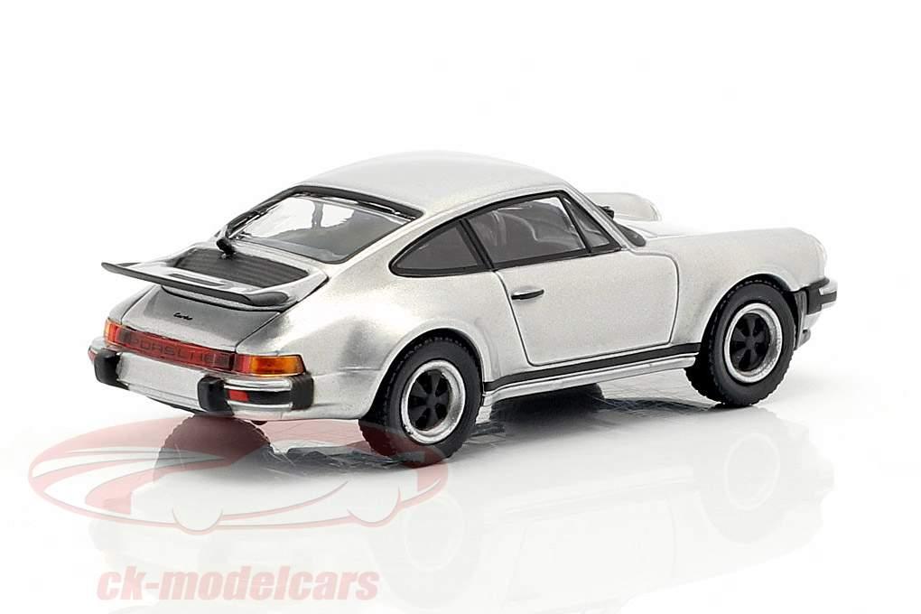 Porsche 911 Turbo (930) año de construcción 1977 plata 1:87 Minichamps