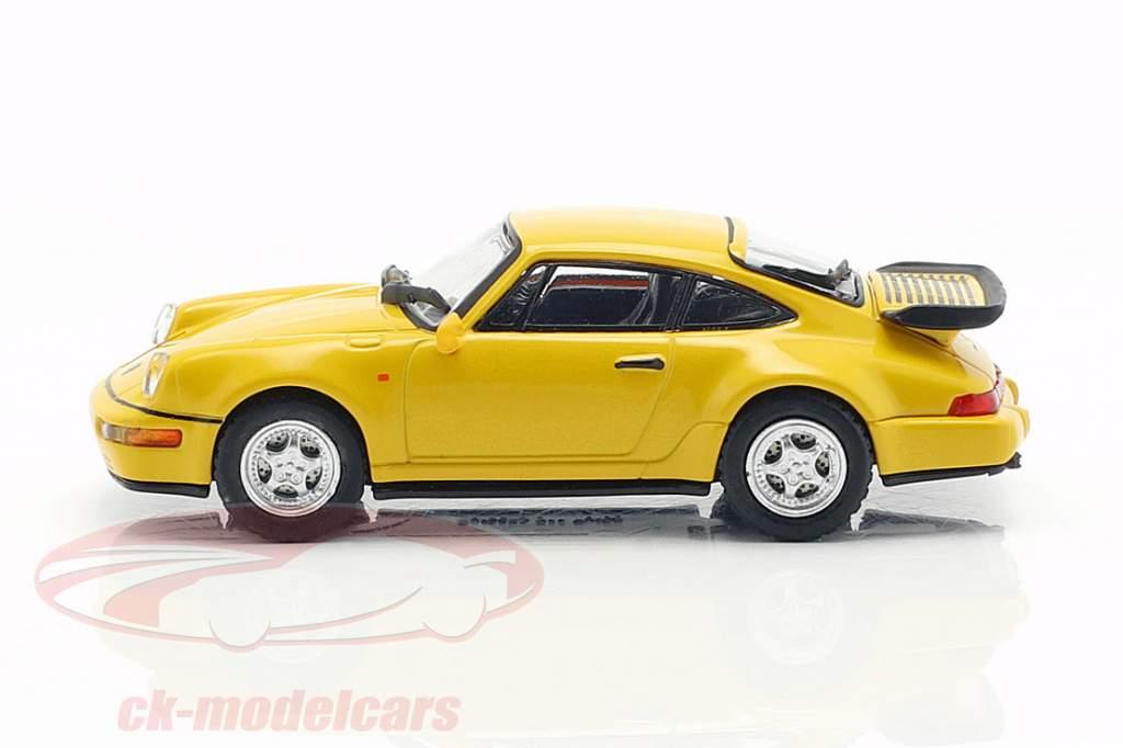 Porsche 911 Turbo (964) anno di costruzione 1990 giallo 1:87 Minichamps