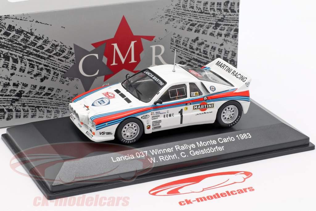 Lancia 037 #1 winnaar Rallye Monte Carlo 1983 Röhrl, Geistdörfer 1:43 CMR