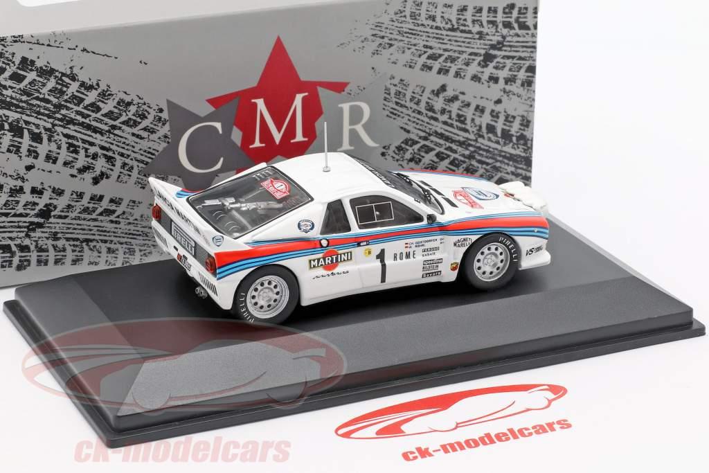Lancia 037 #1 ganador Rallye Monte Carlo 1983 Röhrl, Geistdörfer 1:43 CMR