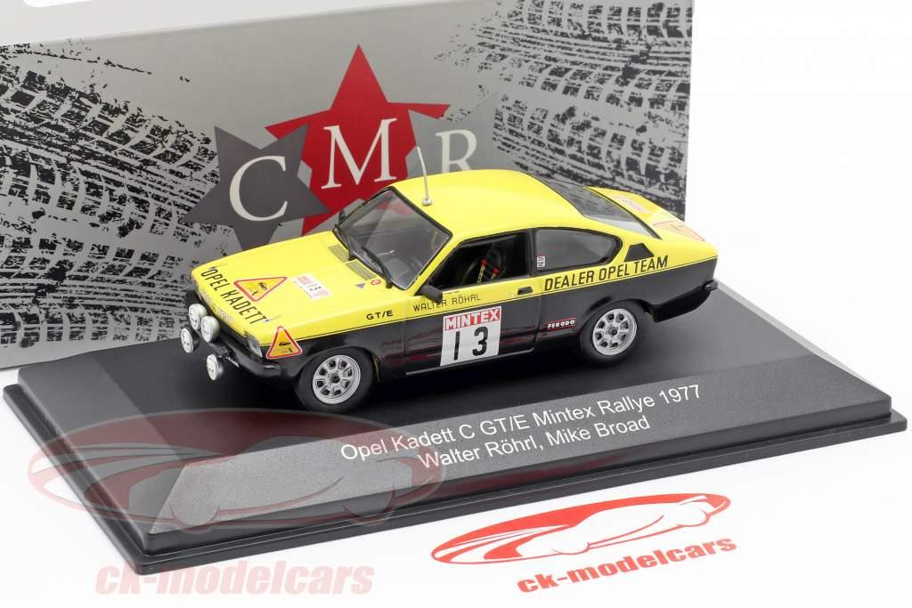 Opel Kadett C GT/E #13 Mintex Rally 1977 Röhrl, Broad 1:43 CMR