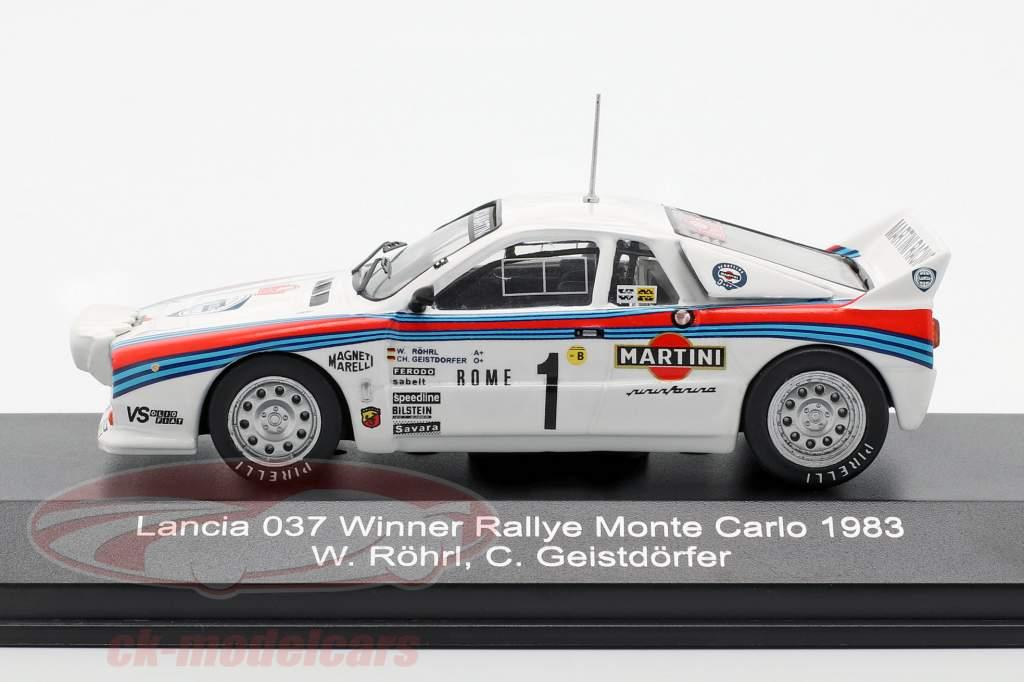 Lancia 037 #1 gagnant Rallye Monte Carlo 1983 Röhrl, Geistdörfer 1:43 CMR