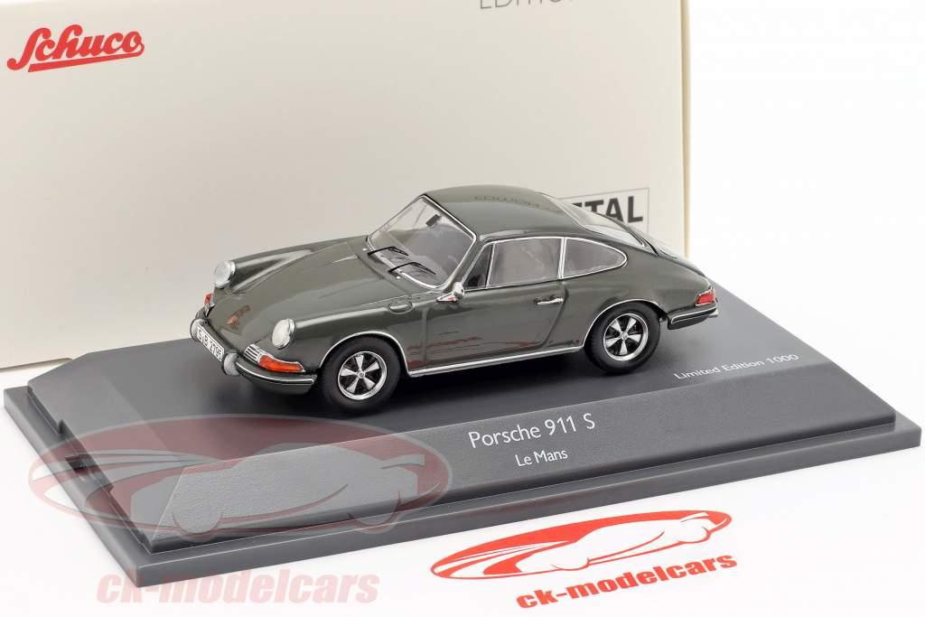 Porsche 911 S Steve McQueen MovieCar película Le Mans (1971) gris 1:43 Schuco