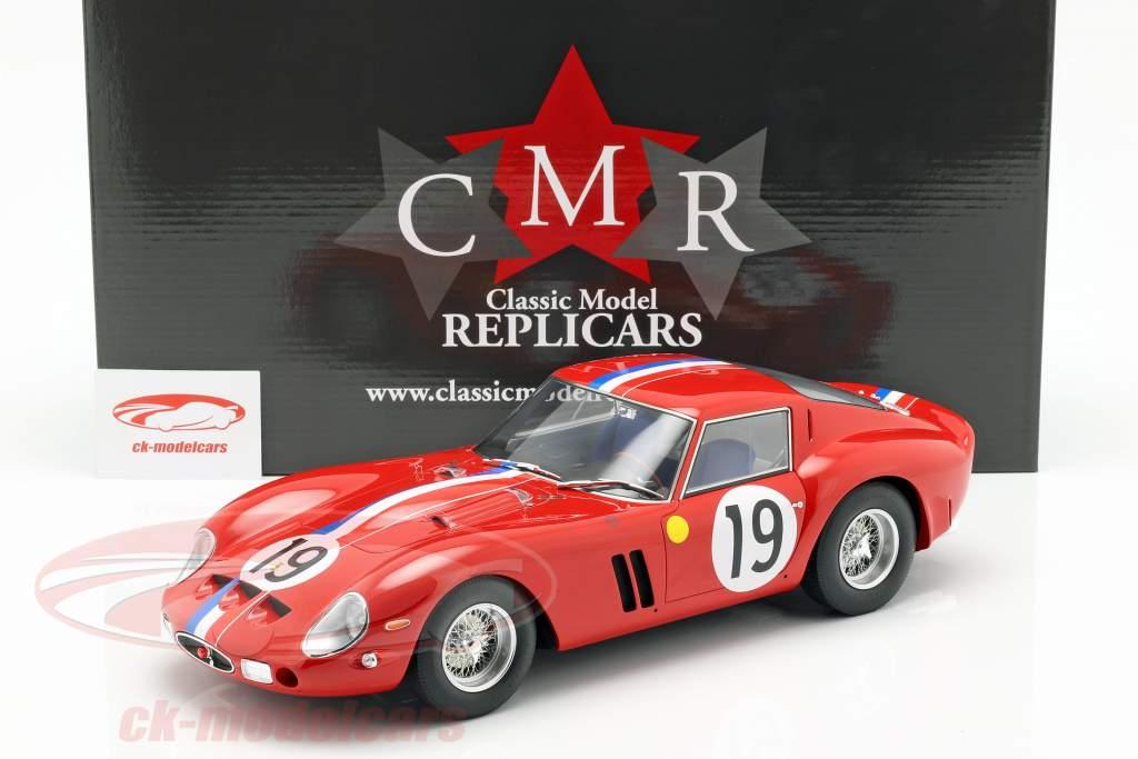 Ferrari 250 GTO #19 segundo 24h LeMans 1962 Noblet, Guichet 1:12 CMR