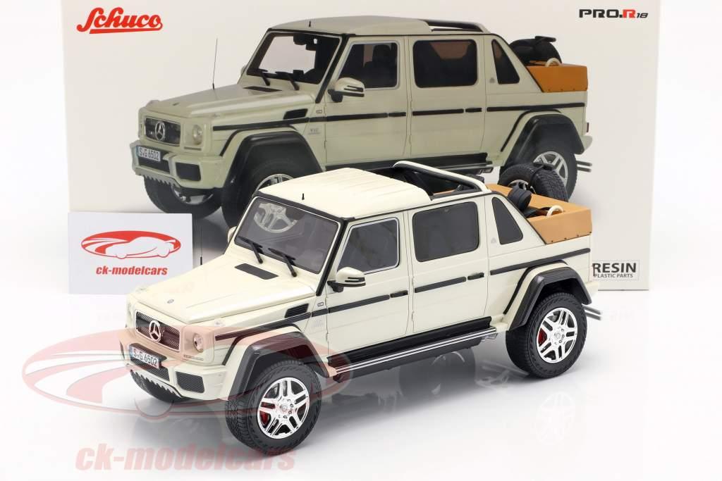 Mercedes-Benz Maybach G650 Landaulet branco 1:18 Schuco