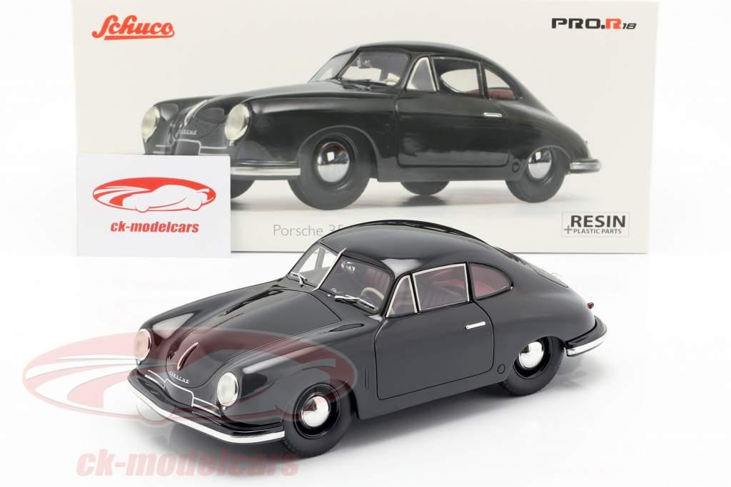 Porsche 356 Gmünd Coupe negro 1:18 Schuco
