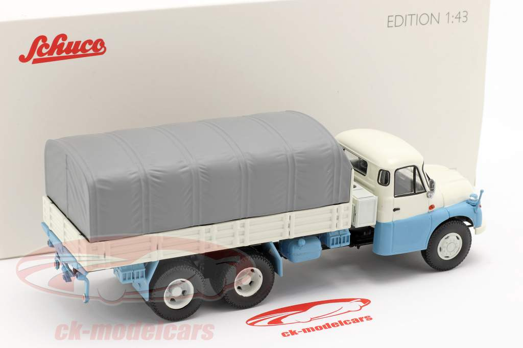 Tatra T138 Pick-Up Truck blu / bianco / grigio 1:43 Schuco