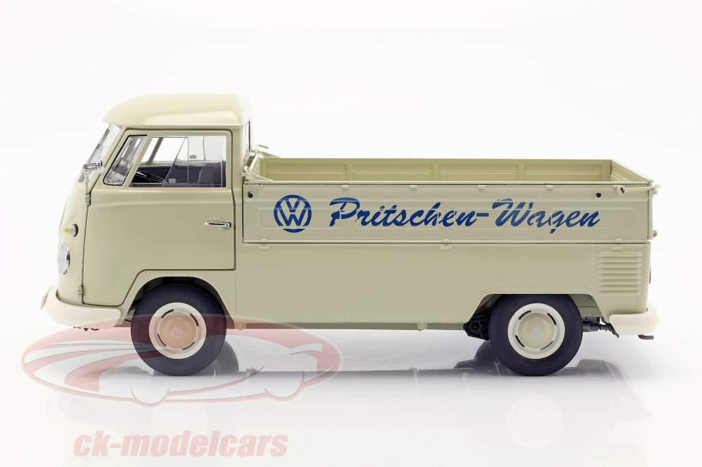 Volkswagen VW T1b platform truck with Plans year 1959-63 beige 1:18 Schuco