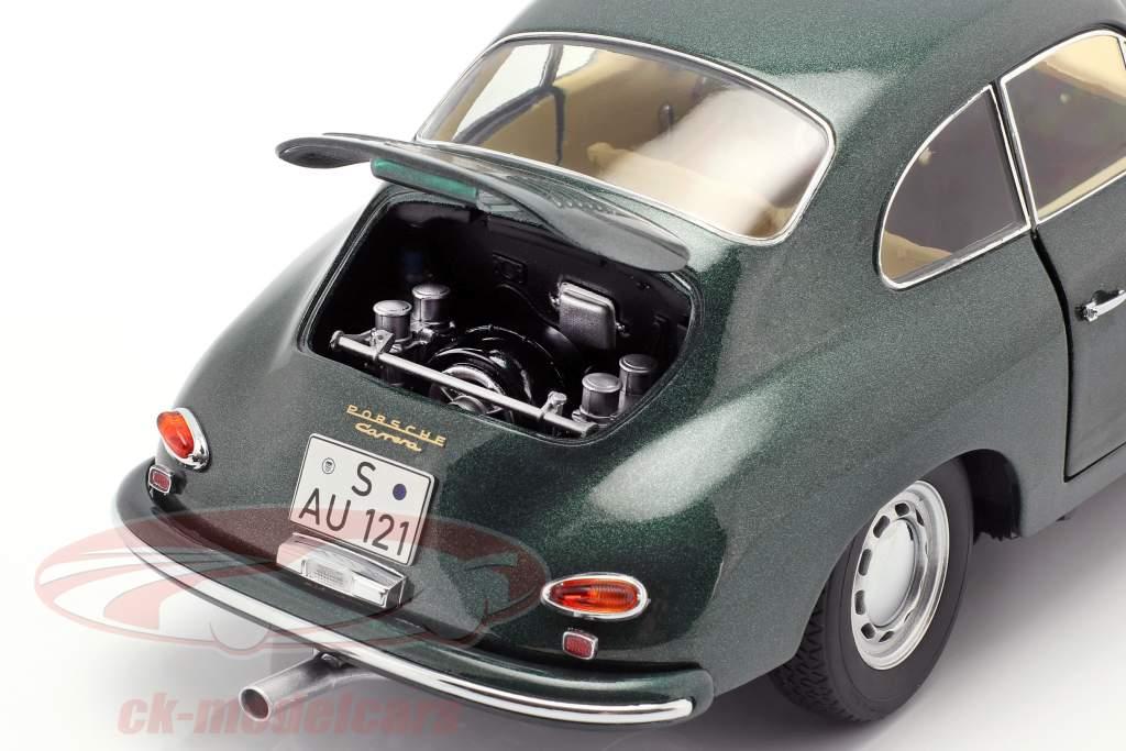 Porsche 356 A Carrera Coupe dark green 1:18 Schuco
