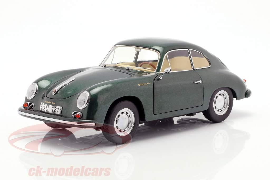 Porsche 356 A Carrera Coupe mørkegrøn 1:18 Schuco