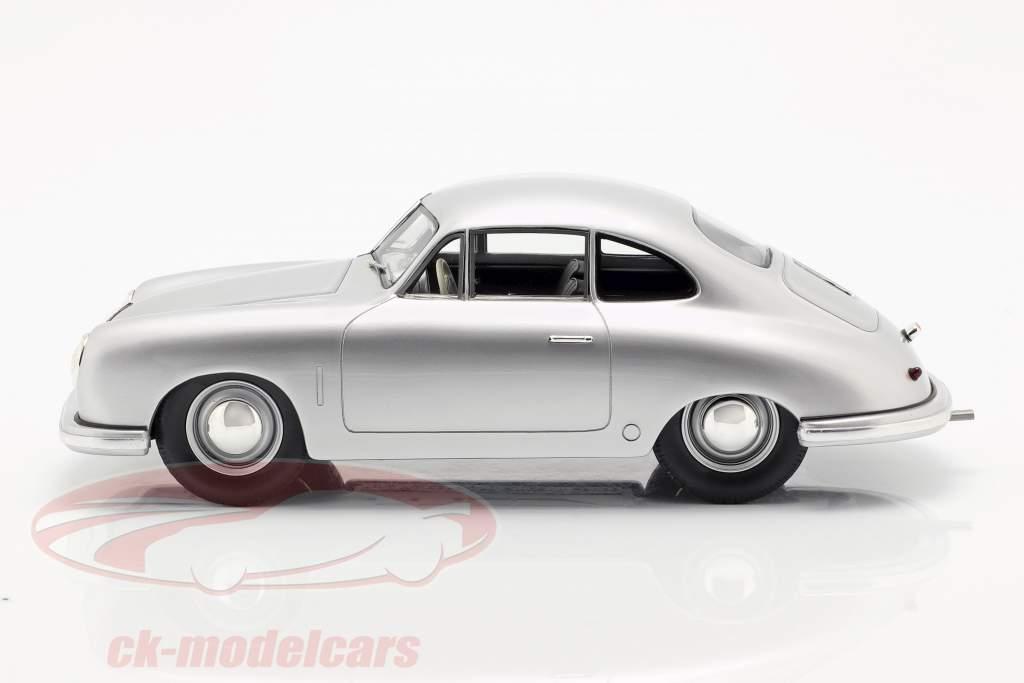 Porsche 356 Gmünd Coupe zilver 1:18 Schuco