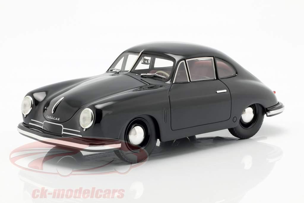 Porsche 356 Gmünd Coupe preto 1:18 Schuco