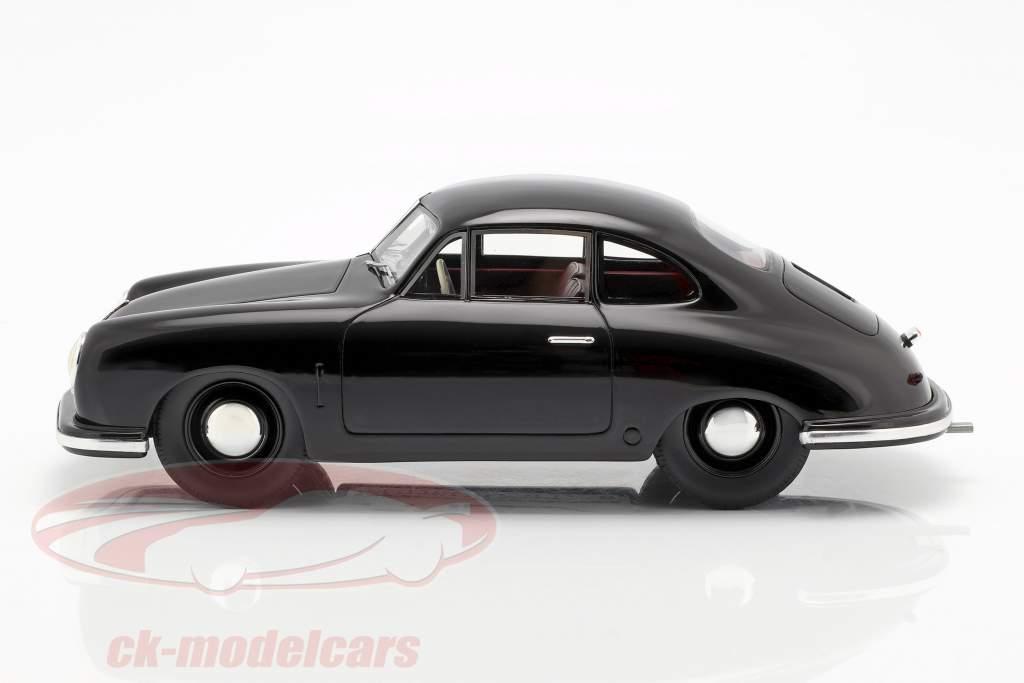 Porsche 356 Gmünd Coupe zwart 1:18 Schuco