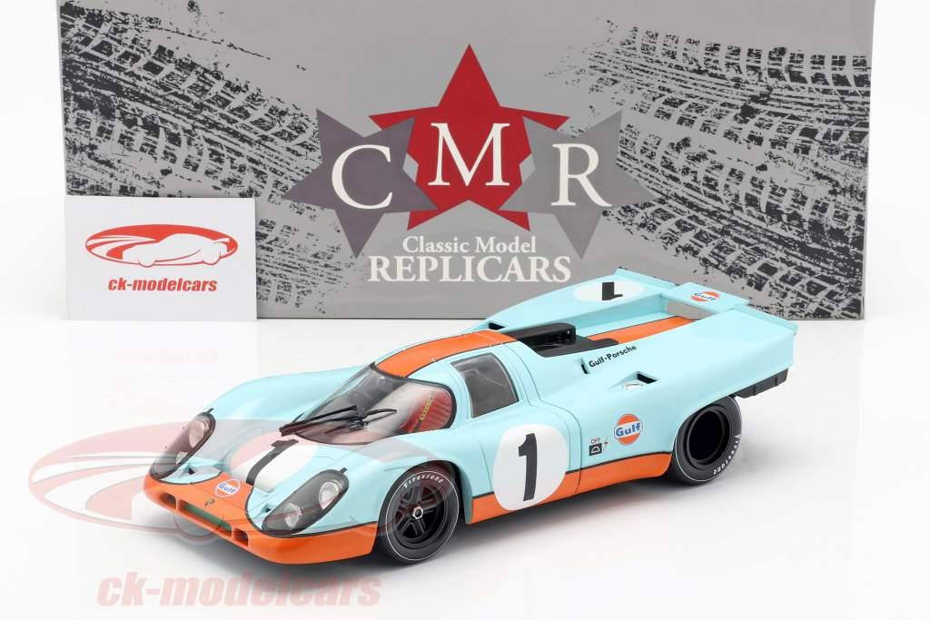 Porsche 917K Gulf #1 2e 24h Daytona 1970 Siffert, Redman 1:18 CMR