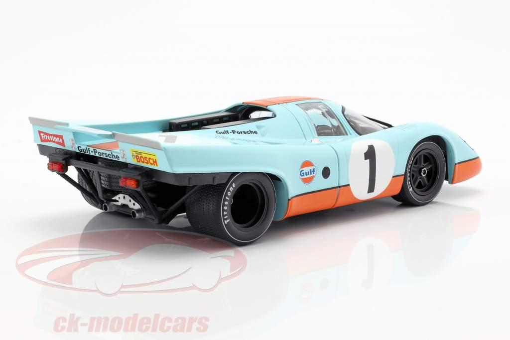 Porsche 917K Gulf #1 segundo 24h Daytona 1970 Siffert, Redman 1:18 CMR