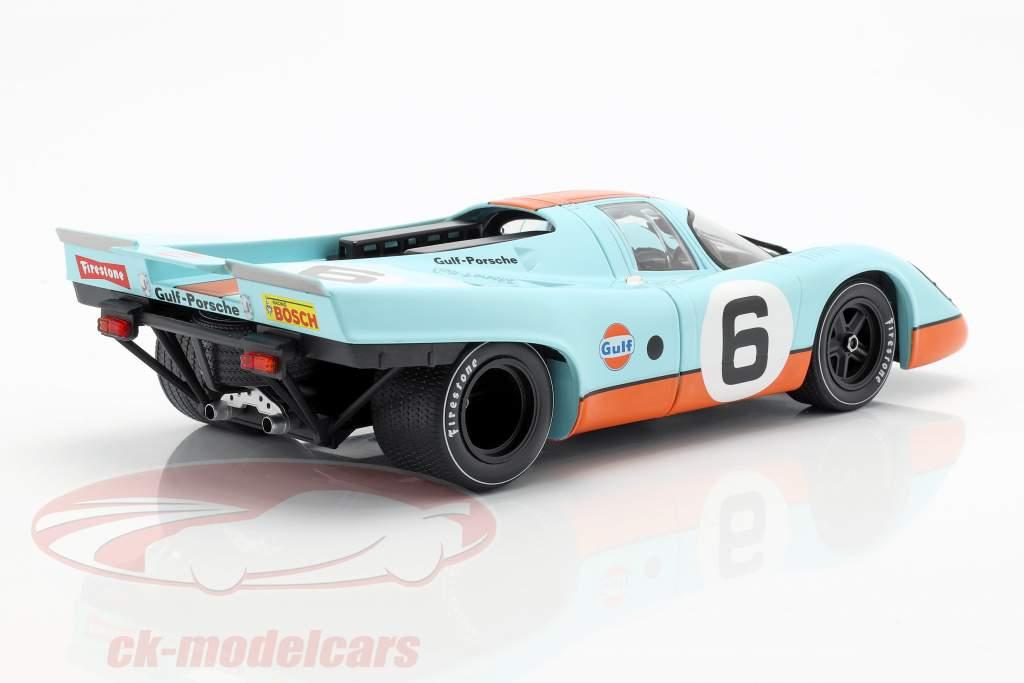 Porsche 917K Gulf #6 3rd 1000km Brands Hatch 1971 Bell, Siffert 1:18 CMR