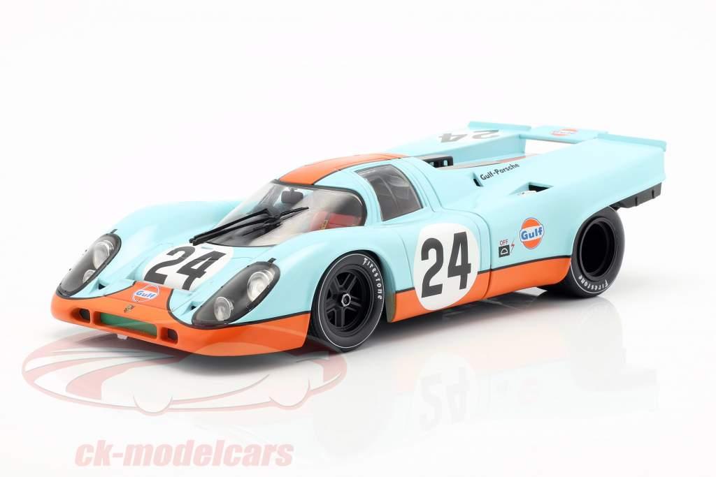 Porsche 917K Gulf #24 ganador 24h Spa 1970 Siffert, Redman 1:18 CMR