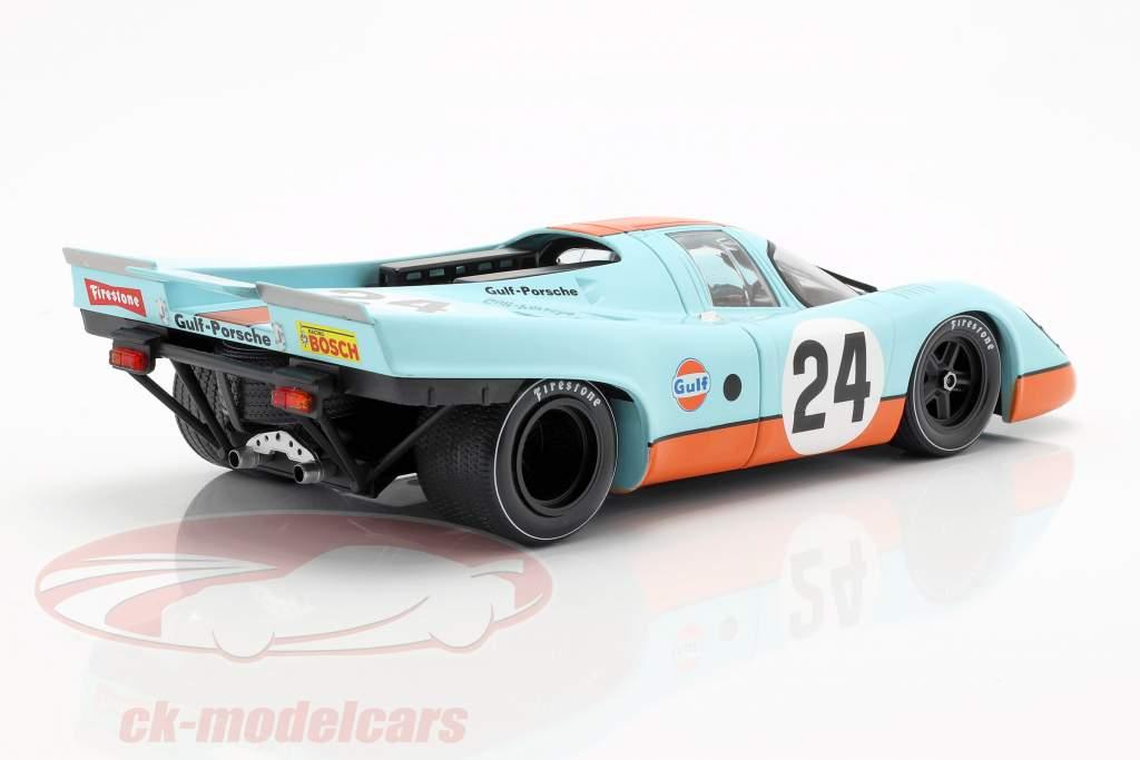 Porsche 917K Gulf #24 vencedor 24h Spa 1970 Siffert, Redman 1:18 CMR