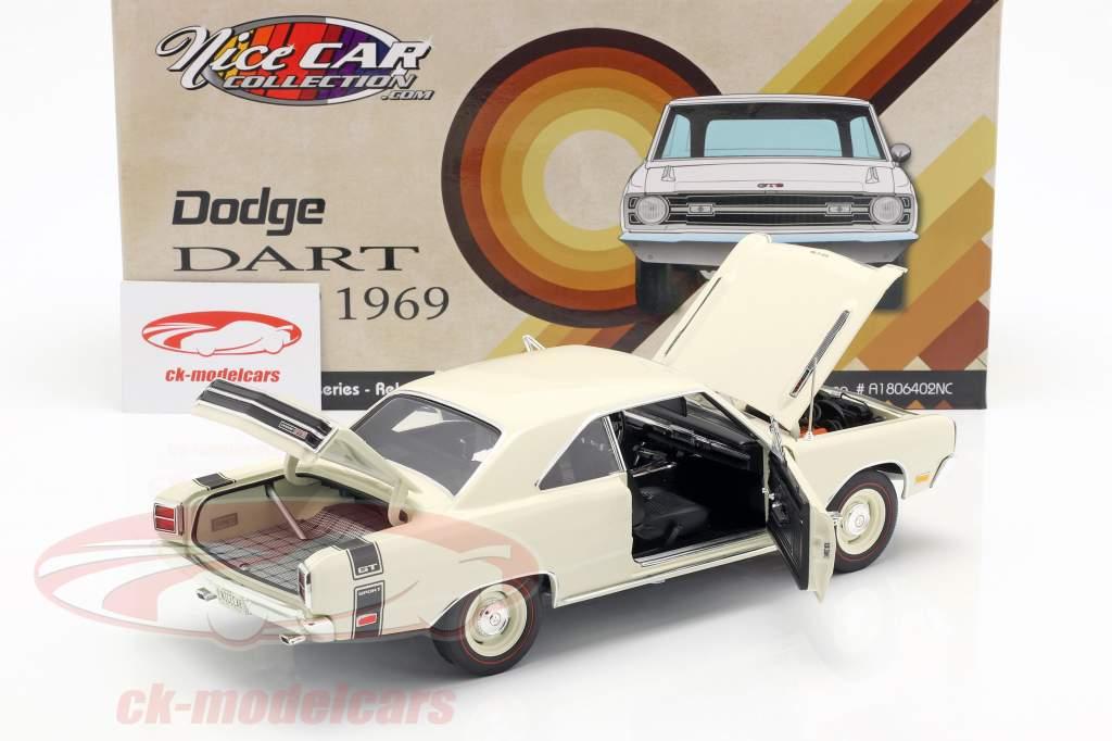 Dodge Dart GTS 440 Opførselsår 1969 hvid 1:18 GMP