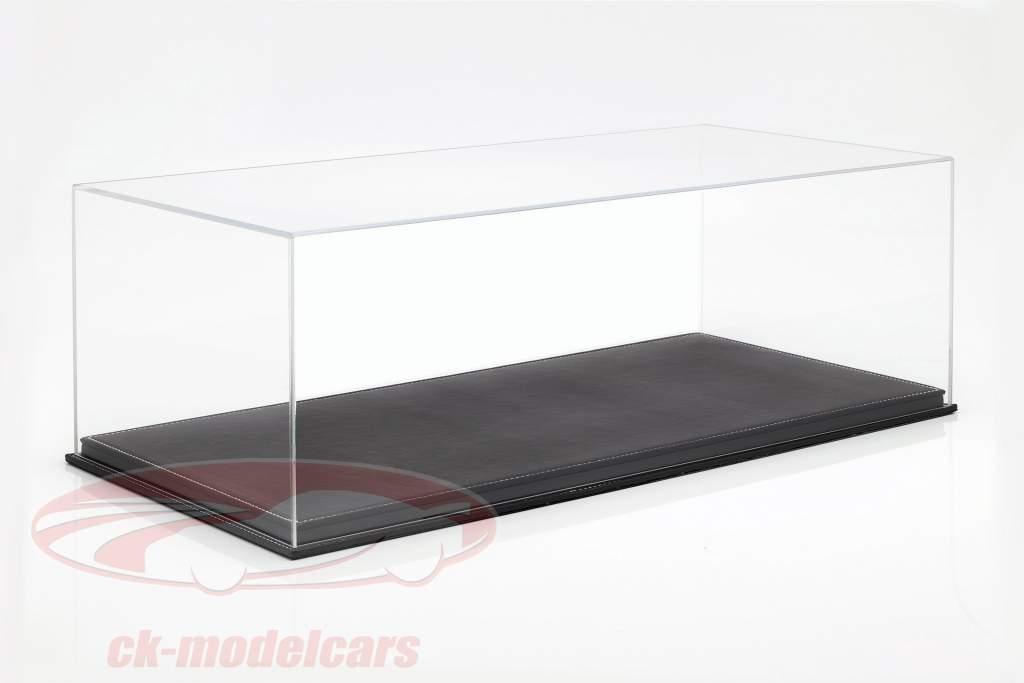 High quality acrylic showcase Mulhouse with leather baseplate black 1:8 Atlantic
