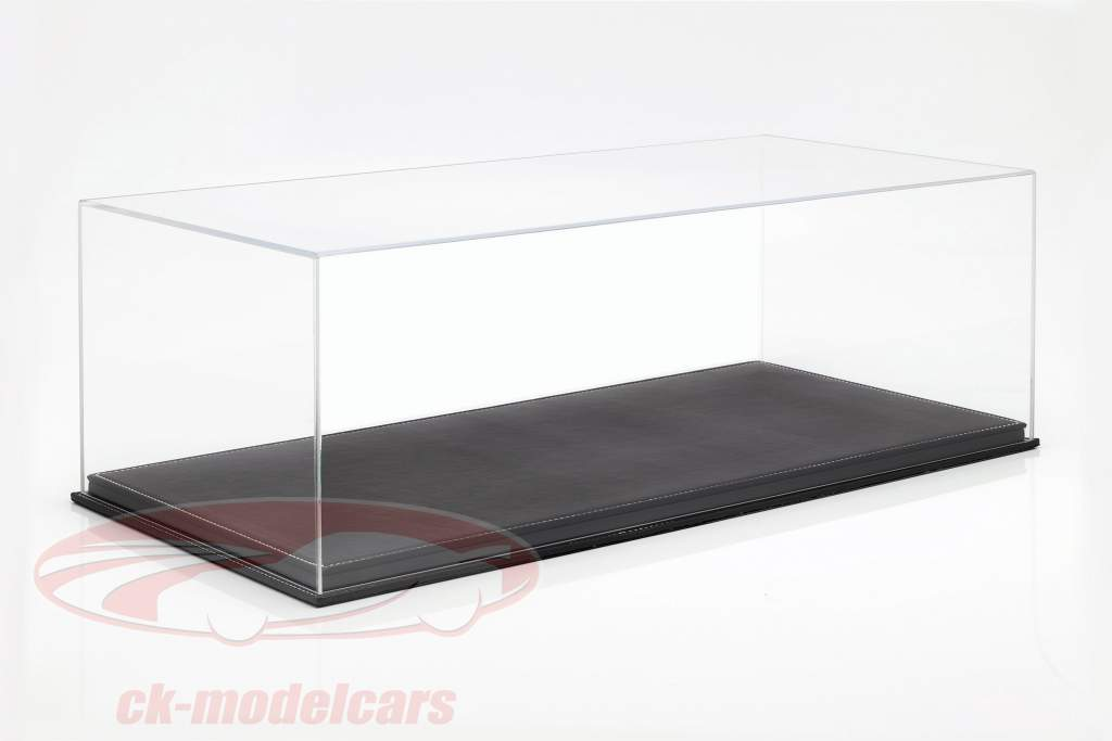 kvalitet akryl udstillingsvindue Mulhouse med Læder bundplade sort 1:8 Atlantic