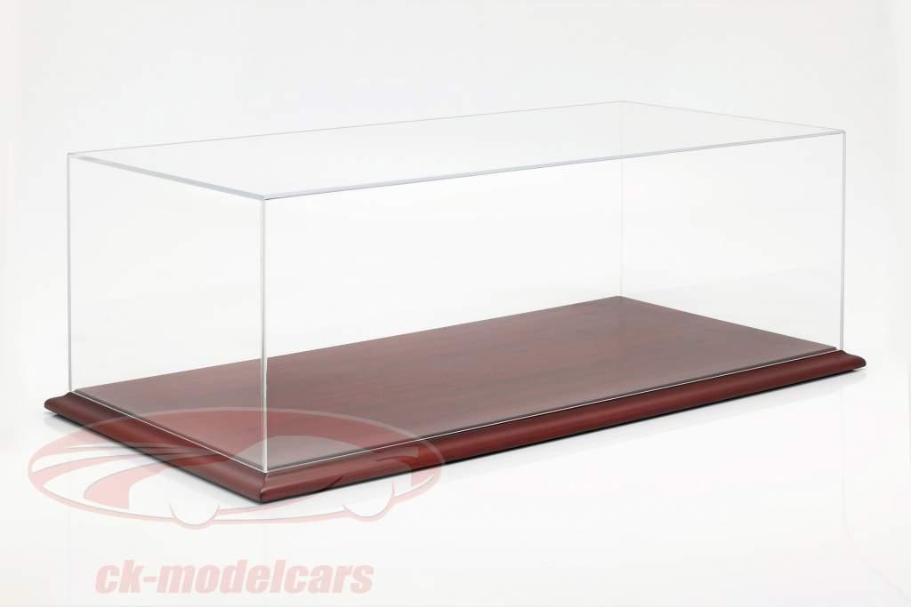 Hochwertige Acryl Vitrine Molsheim mit Holz-Bodenplatte mahagoni 1:8 Atlantic