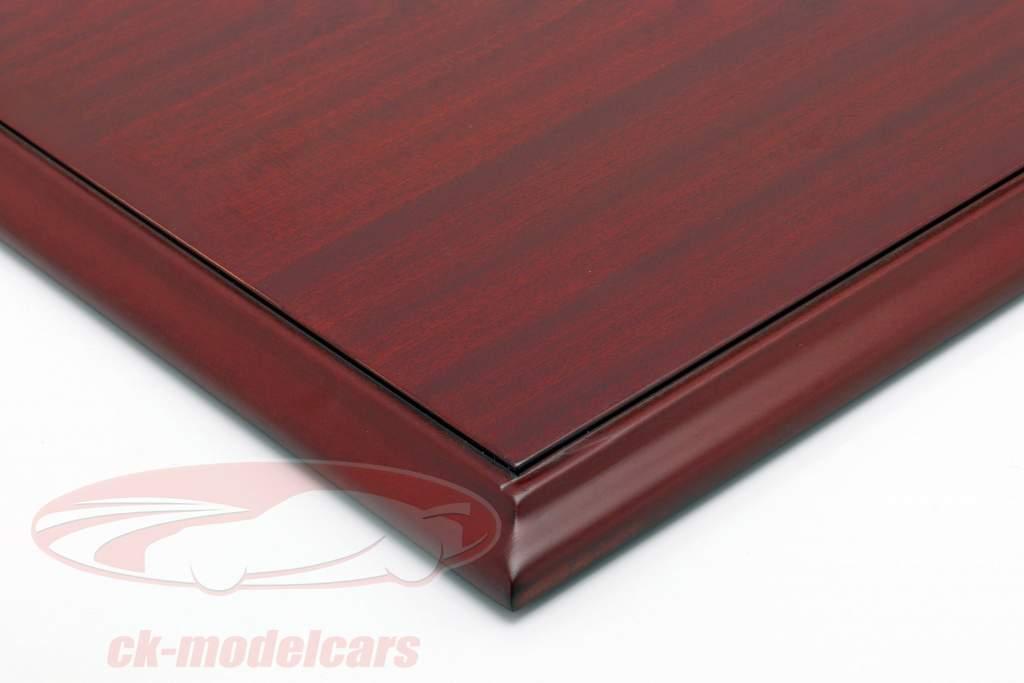 qualidade acrílico mostruário Molsheim com mogno cor madeira base 1:8 Atlantic