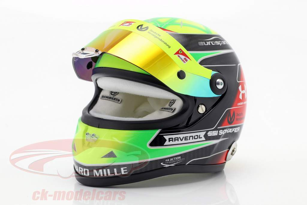 Mick Schumacher Prema Racing #9 formel 2 2019 hjelm 1:2 Schuberth