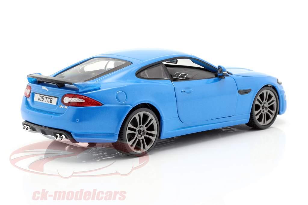 Jaguar XKR-S blu 1:24 Bburago