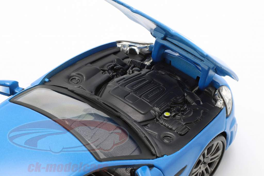 Jaguar XKR-S bleu 1:24 Bburago