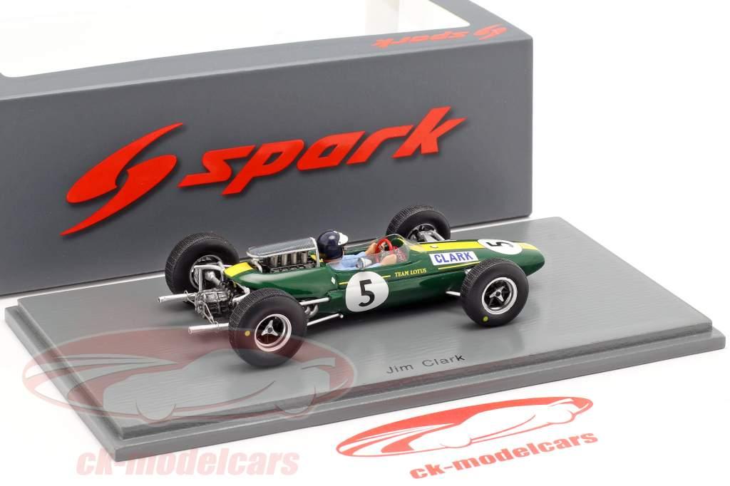 Jim Clark Lotus 33 #5 verdensmester Storbritannien GP formel 1 1965 1:43 Spark