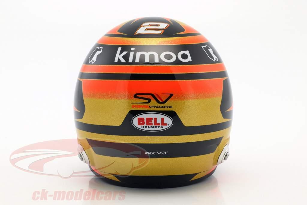 Stoffel Vandoorne McLaren MCL33 #2 formel 1 2018 hjelm 1:2 Bell