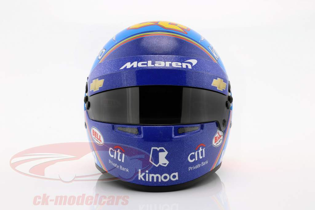 Fernando Alonso McLaren #66 Indy 500 2019 capacete 1:2 Bell